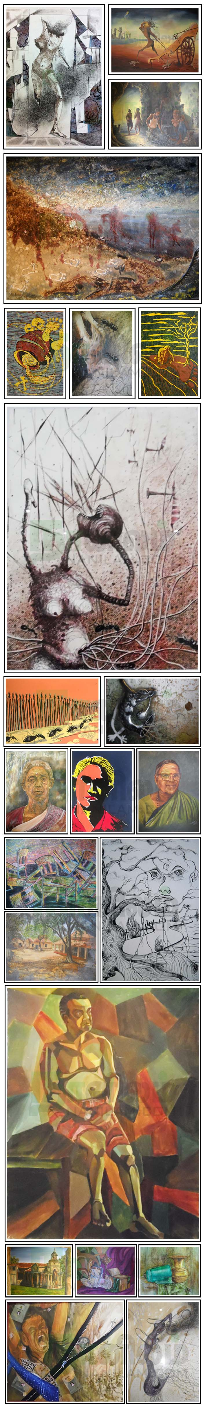 sarmala santhirathasan art exhibition in jaffna nanilam